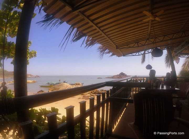 Beach view in Gokarna