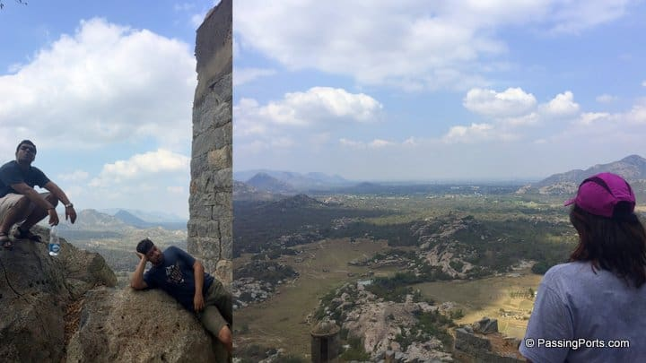 Tired climb up gingee fort
