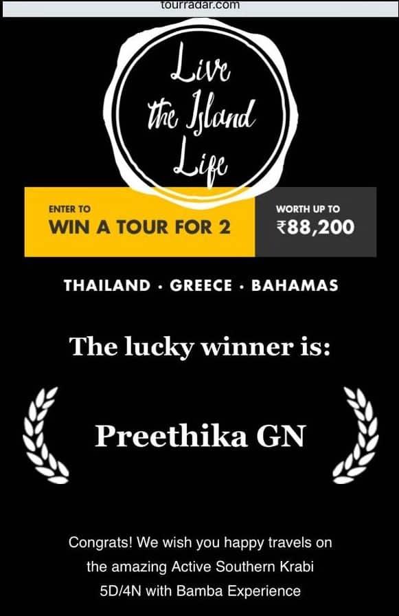 Travel contest to krabi