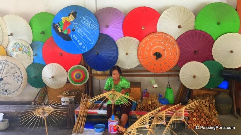 The Umbrella village in Chiang Mai