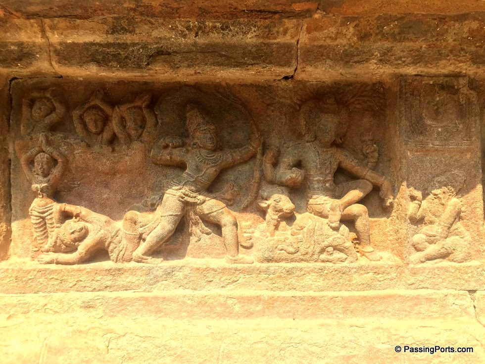 A story depicted in Darasuram temple