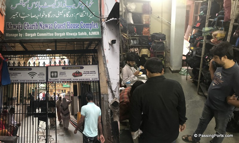 Opposite to one of the entrances of the Sharif Dargah