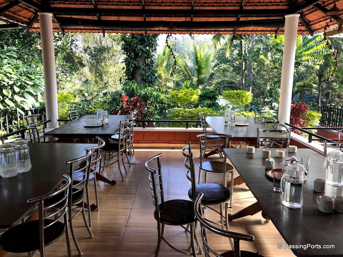 Restaurant at Bynekaadu Hotel in Chikmagalur