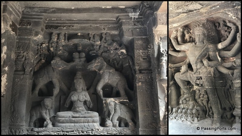 Art inside Kailash Temple