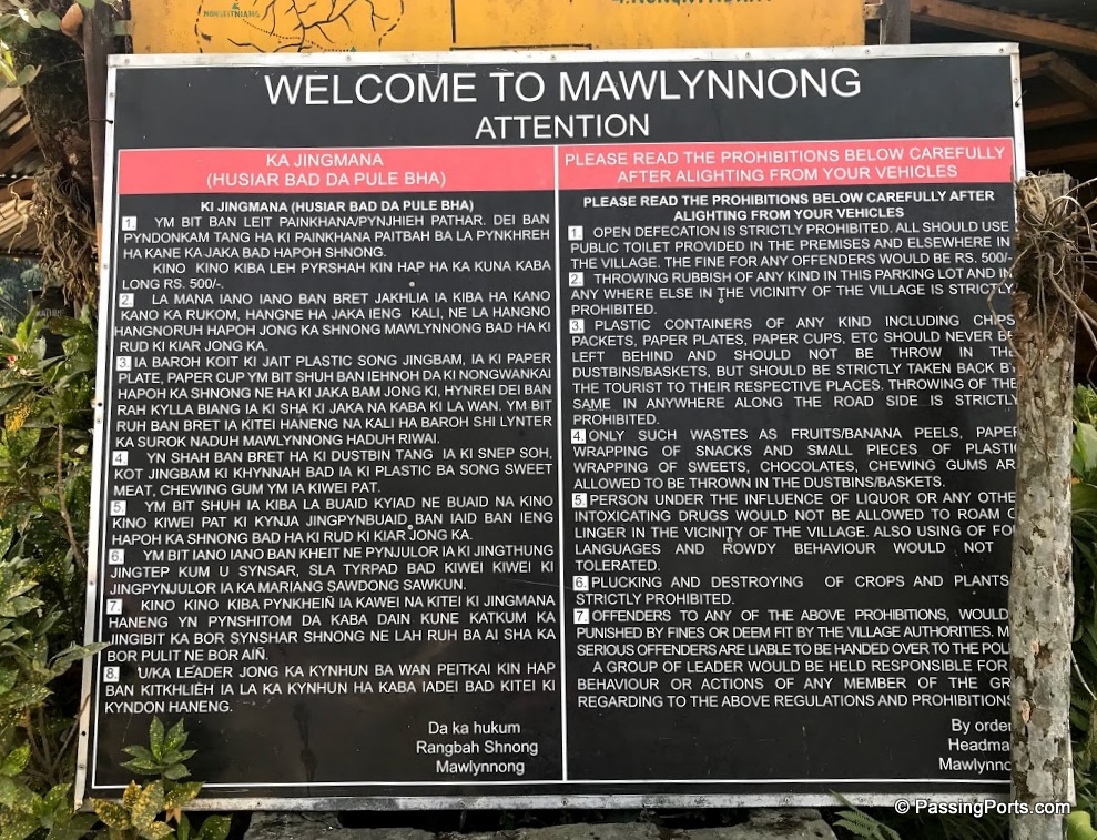 Rules clearly laid out in Mawlynnong