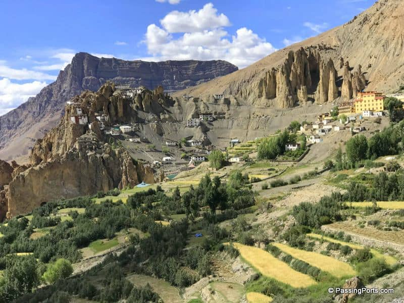 Dhankar Monastery and village in Spiti