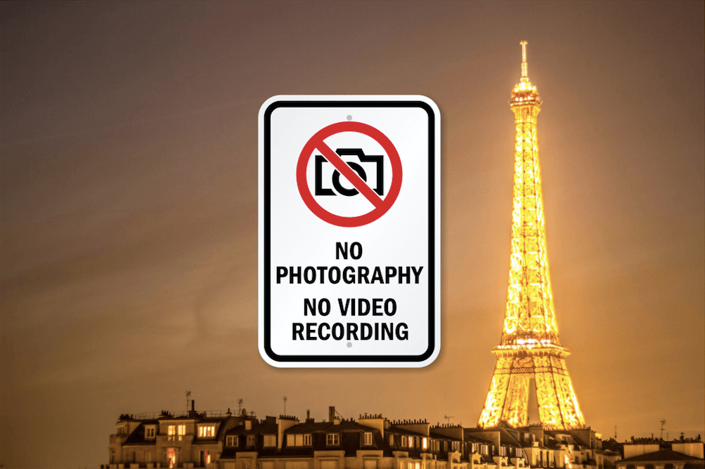Eiffel Tower Photography Not Allowed