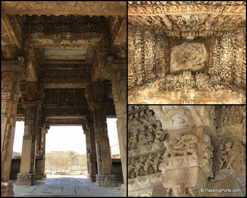 The carvings inside padawali