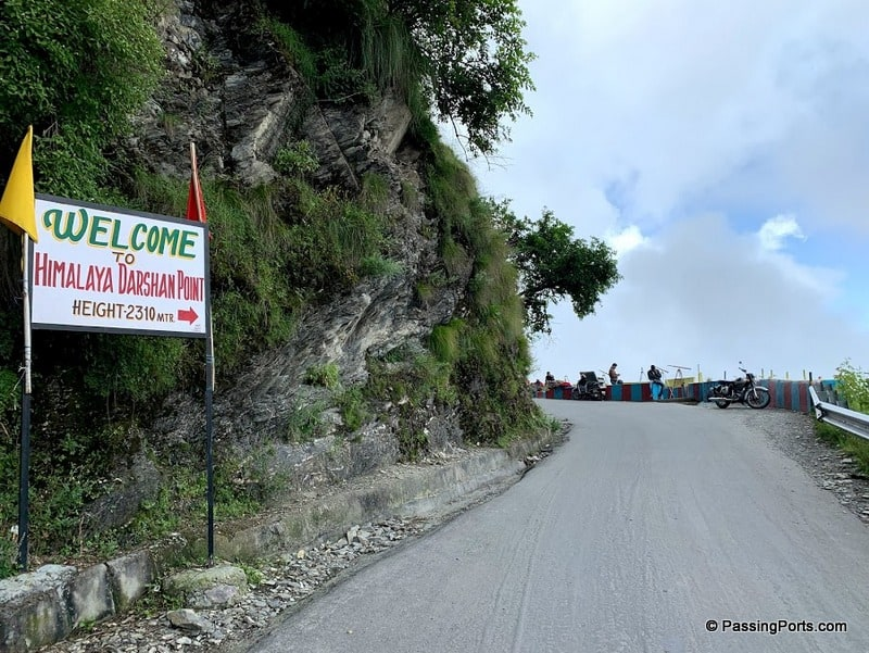 The route to see the Himalaya