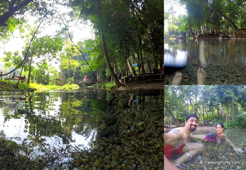 Dip in Hot springs in Pai