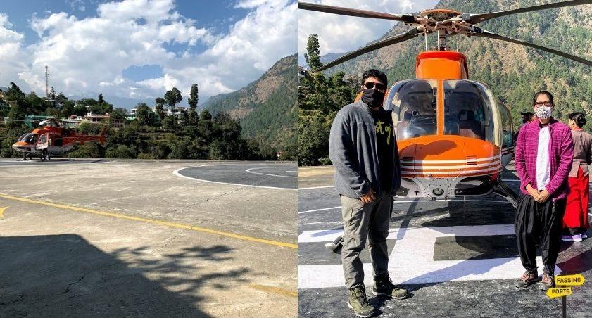Helicopter Kedarnath temple
