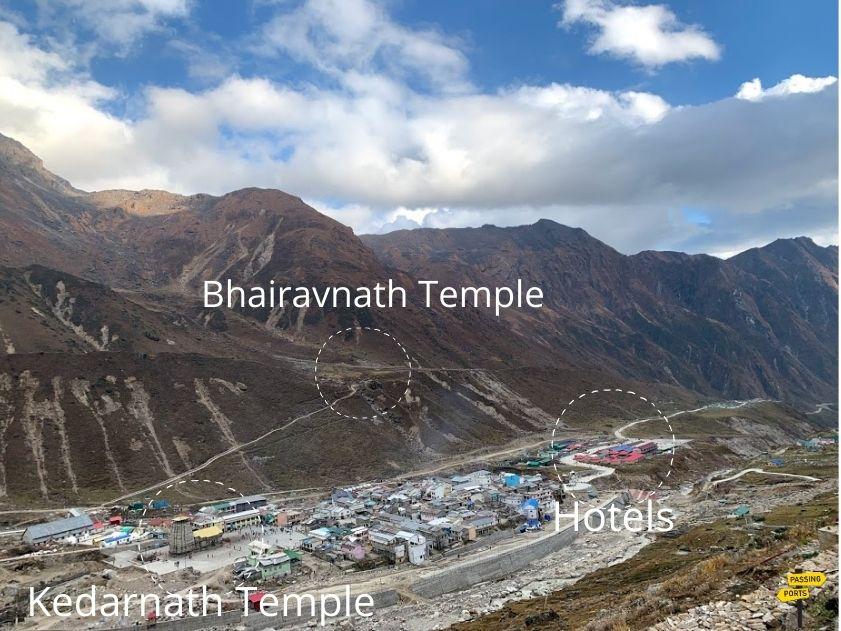 Lanscape views of Kedarnath