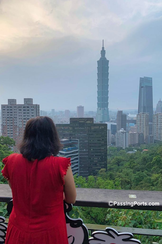 View of the beautiful Taipei 101 from Elephant Mountain.