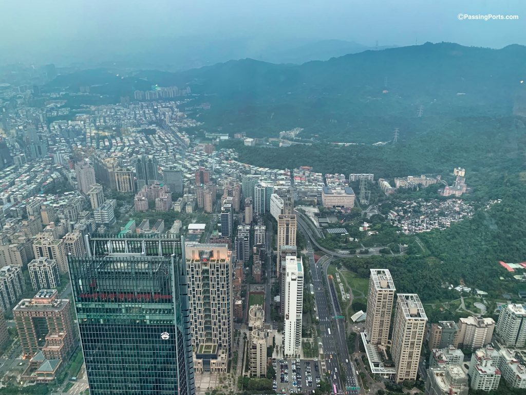 View of Elephant Mountain from Taipei 101