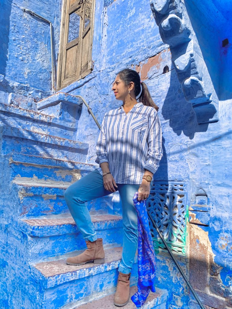 Blue blue everywhere - blue house hunting in Jodhpur