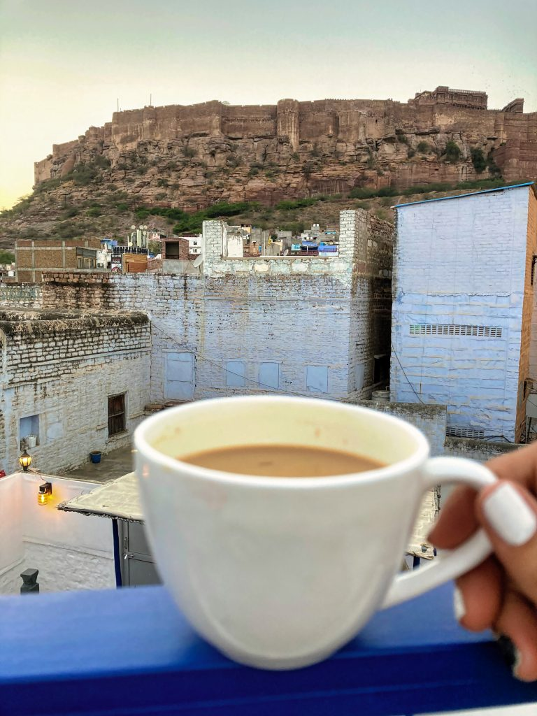 View from the terrace of Open House Cafe in Jodhpur