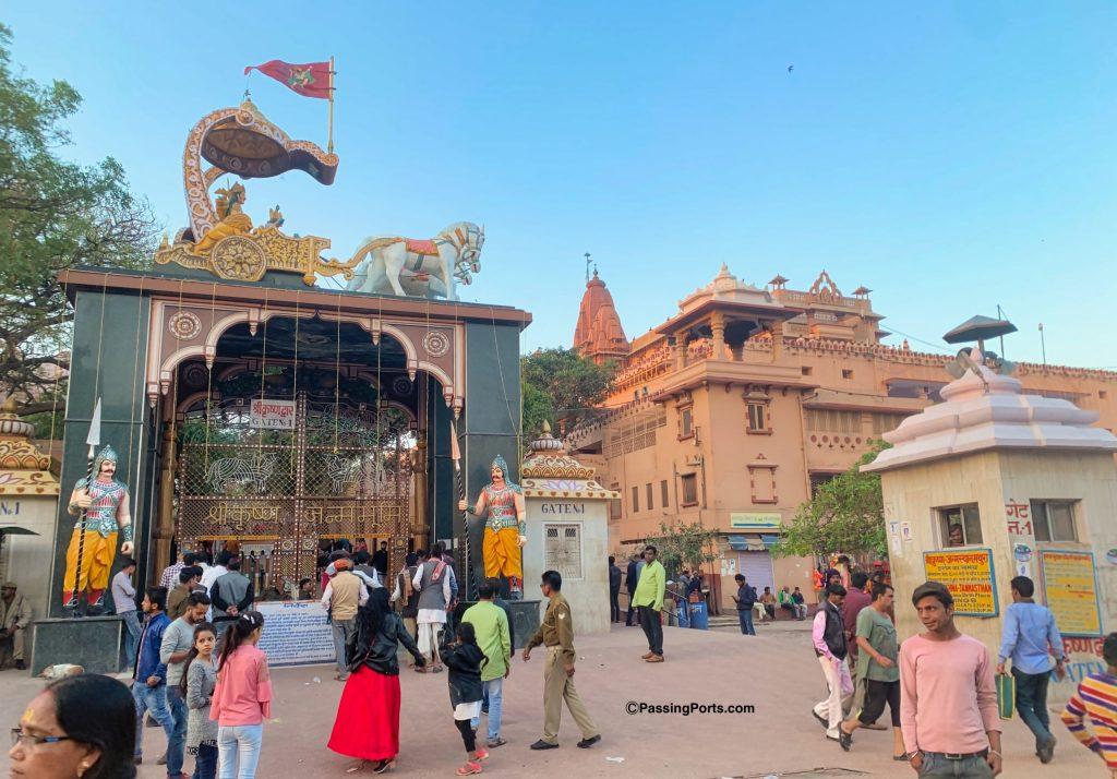 Outside the Krishna Janmabhoomi Temple